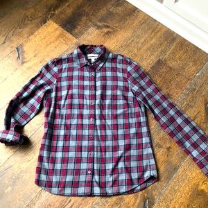 J Crew plaid cotton button down boy shirt -4